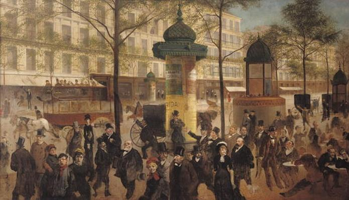 Study for a panorama of the Boulevard de Montmartre, 1877