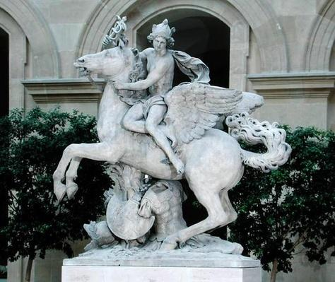 Mercury riding Pegasus, known as 'the Horse of Marly', 1701-02