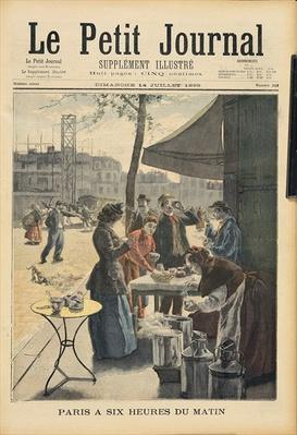 Paris at Six O'Clock in the Morning, from 'Le Petit Journal', 14th July 1895