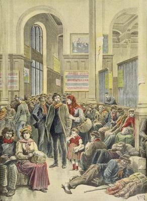 Italian Emigrants at Gare Saint-Lazare, from 'Le Petit Journal', 29th March 1896