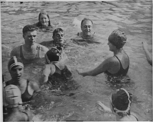 FDR Swimming at Warm Springs, Georgia, 1930 | Ken Burns: The Roosevelts
