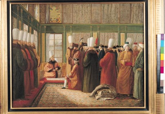 Reception of the French Ambassador by the Grand Vizier in Constantinople