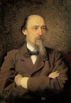 Portrait of Nikolay Alekseyevich Nekrasov, 1877
