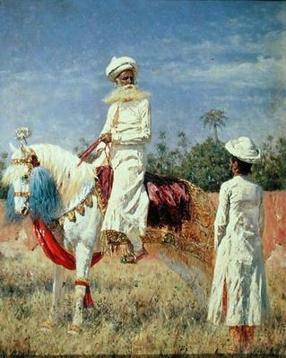 A Horseman in Jaipur, 1881