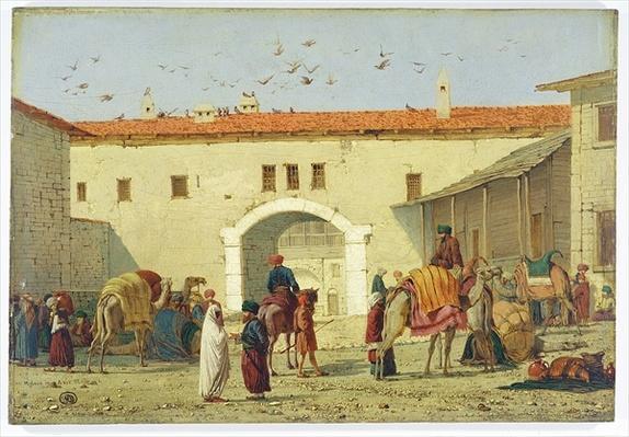 Caravanserai at Mylasa, Turkey, 1845