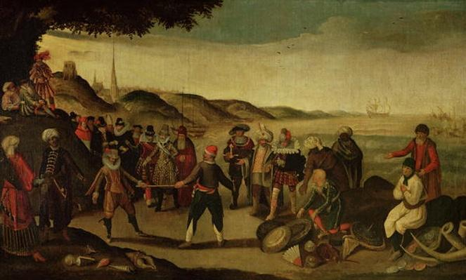 The Dispute over the Golden Baton or The Dispute between the Spanish and the Dutch over Trade in the Indies, 1609
