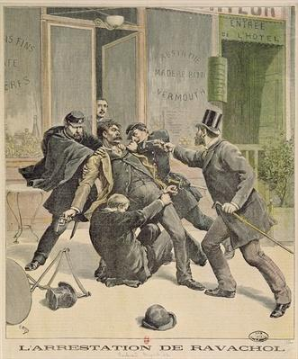 The Arrest of Ravachol, front cover of 'Le Petit Journal', 16th April 1892