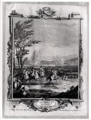 The Battle of Blenheim, 13th August 1704, engraved by Claude Dubosc, 1735
