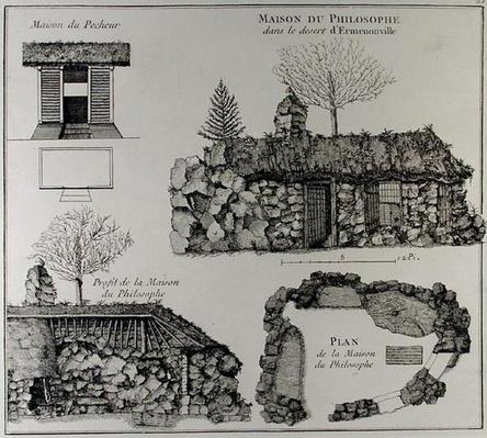 Jean-Jacques Rousseau's Hermitage in Ermenonville