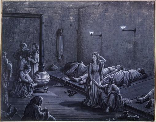 Interior of a Night Shelter for Poor Women, 1850-60