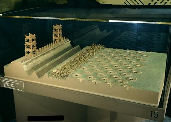 Model of Caesar's defences at Alesia