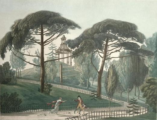The Maze or Belvedere of the Jardin des Plantes in Paris, engraved by Nicolas Marie Joseph Chapuy