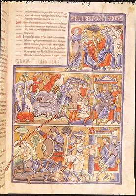 Ms 1 f.93r The Story of David, from the Souvigny Bible