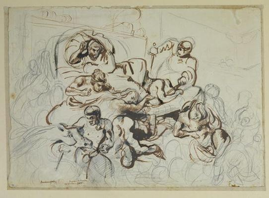 Study for the Death of Sardanapalus, 1864