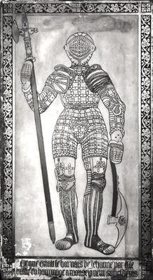 Plaque depicting the armour of Joan of Arc