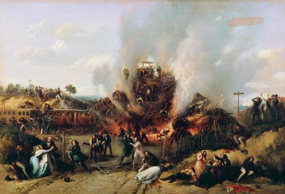 Disaster on the Railway between Versailles and Bellevue, 8th May 1842