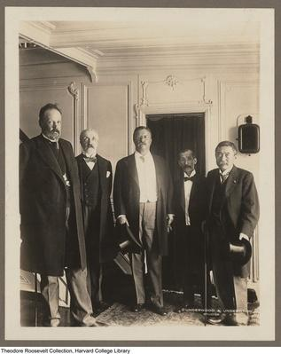 Theodore Roosevelt with Russo-Japanese Peace Conference Ministers, 1905 | Ken Burns: The Roosevelts