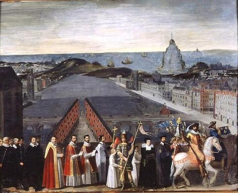 Procession of the Brotherhood of Saint-Michel in 1615