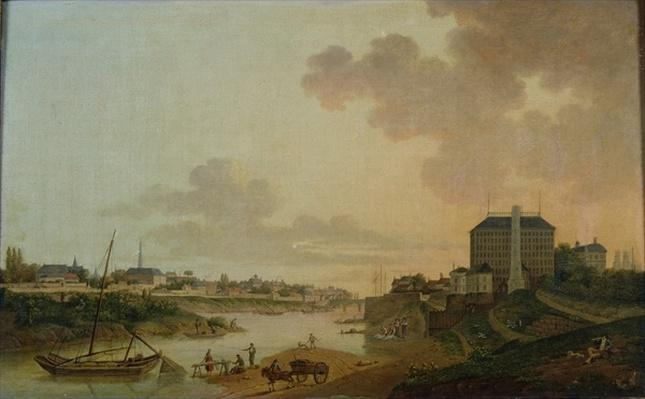 View of the Cotton Factory from the the Motte Sanguin at Orleans, 1825