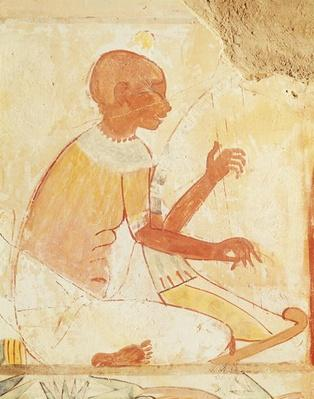 Blind Harpist Singing, from the Tomb of Nakht, New Kingdom
