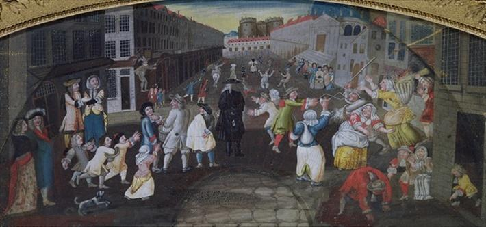 Street Performers at the Carnival Populaire, Rue Saint Antoine, c.1670