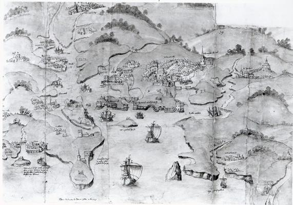Map of Plymouth, c.1539