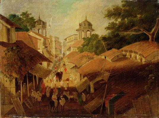 Street in Patna, c.1825