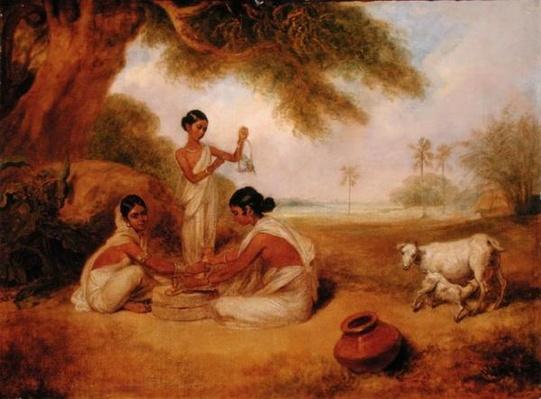 Grinding Corn, c.1792-95