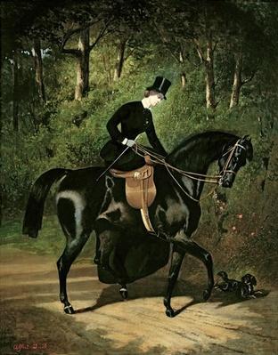 The Rider Kipler on her Black Mare