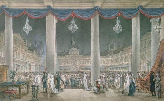 Exhibition of the Products of Industry in the Courtyard of the Louvre in 1801
