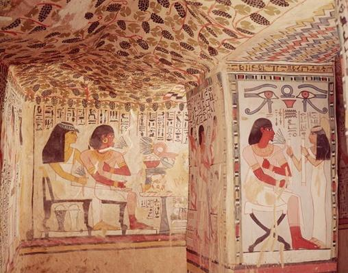 Interior of the Tomb of Sennefer, New Kingdom