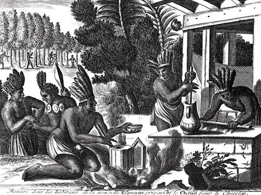 How the Natives of New Spain Prepared Cacao for Chocolate