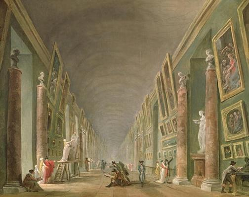 The Grand Gallery of the Louvre between 1801 and 1805