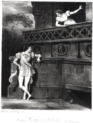 Scene from Act III of 'Romeo and Juliet' by William Shakespeare