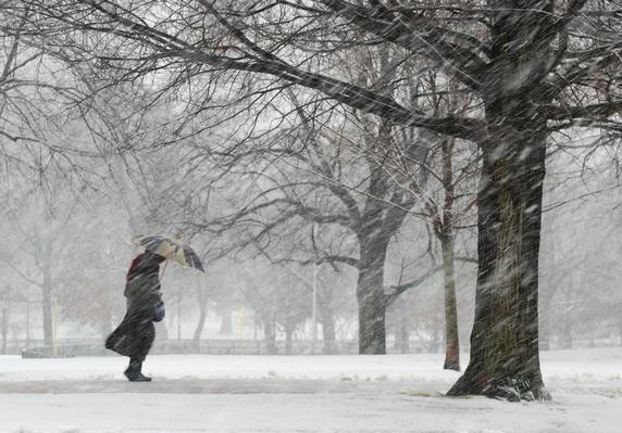 Snowstorm on Boston Common | Weather