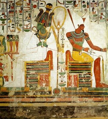 The Gods Osiris and Atum, from the Tomb of Nefertari, New Kingdom