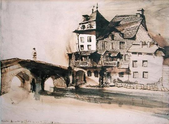 The House Where I Live by the Bridge in Vianden, 28th July 1871