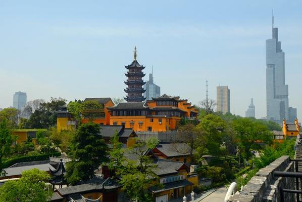 Rooster Crowing Temple and Zifeng Tower Nanjing | Monuments and Buildings