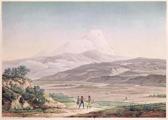 View of Cajambe, from 'Voyages aux Regions Equinoxiales du Nouveau Continent' by Alexander de Humboldt