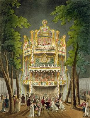 Vauxhall gardens, 1808