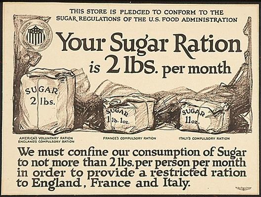 Sugar Ration Notice, 1917