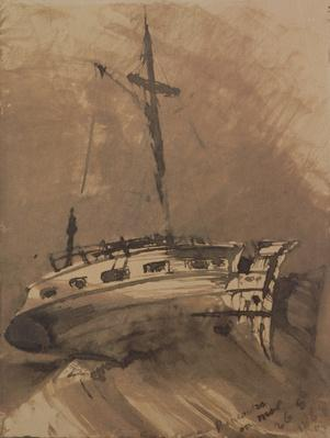 A Ship in Choppy Seas, 1864