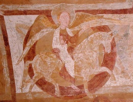 Angel on Horseback, from the ceiling of the crypt