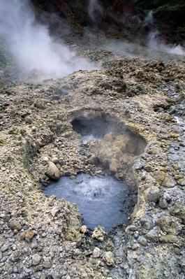 Fumaroles in Volcanic Area, Valley of Desolation, Dominica | Earth's Surface