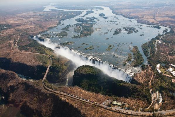 Victoria Falls from the air (Explored Jul 22 2012, | Wonders of the World