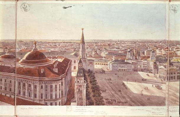 Panorama of Moscow, depicting the former Senate Palace
