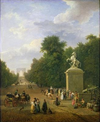 The Entrance to the Champs-Elysees in 1830