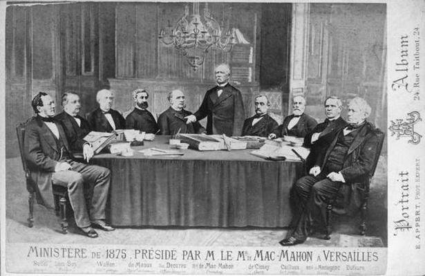 The Ministry of 1875 Presided Over by Marshal Edme Patrice Maurice Mac-Mahon