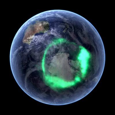 Aurora over Antarctica, satellite image | Earth and Space