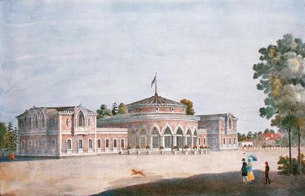 Railway Station and French Restaurant in the Catherine Park, 1824